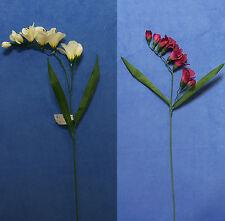 "Six Quality Choose 22"" Freesia Artificial Faux Silk Flower Spray"