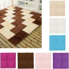 Kids Carpet Foam Puzzle Mat EVA Shaggy Velvet 25*25 cm Baby Eco Floor 7 color