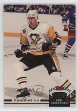 1992-93 Topps Stadium Club #466 Kjell Samuelsson Pittsburgh Penguins Hockey Card