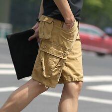 Hommes poches Cargo Armée shorts en vrac décontracté COTON PANTALON COMBAT mode