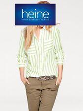 Streifenbluse Long-Bluse B.C. Best Connection. Viskose, Grün/ecru. NEU!!! %SALE%