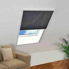 vidaXL Mosquitera Plisada para Ventanas Aluminio Negro Diferentes Tamaños