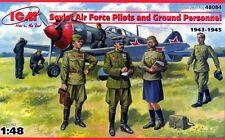 SOVIET PILOTS & GROUND PERSONNEL 1943-1945 (7 FIGURES) 1/48 ICM