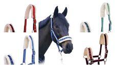 JHI Horse Halter Headcollar with Faux Fur Pony Cob Full