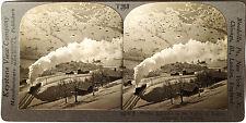 Keystone Stereoview of a Train at Lauterbrunnen, SWITZERLAND from 1930s T600 Set