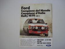 advertising Pubblicità 1980 FORD ESCORT RALLY GR 1 e ANGELO PRESOTTO/SGHEDONI