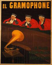 POSTER EL GRAMOPHONE BEST SPEAKING COURT JUDGES CAPPIELLO VINTAGE REPRO FREE SH
