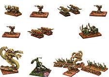 15mm Fantasía miniatures-unpainted lizardmen-15mm' Hot' miniatures-multi-listing