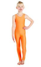 Lycra Catsuit Sleeveless Plain Front - Ballet Colours  (#GEMMA)