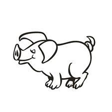 * 1 Sticker Cochon  *
