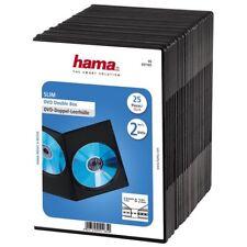 HAMA Custodie DVD DOPPIE Jewel Case Nere Box 2 posti Holder 7 mm CD H51185
