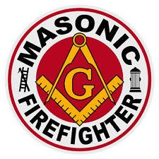 Masonic Firefighter Round Reflective Decal Sticker Mason