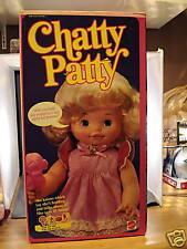 VINTAGE MATTEL 1983 CHATTY PATTY DOLL NEW MIB