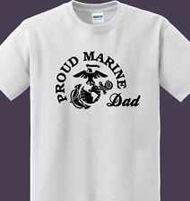 Proud US Marine Dad white t-shirt & Tees 100 % ultra cotton
