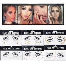 Bohemian Face body Eyes Art Jewels Festival/Party/Rave 3d Tattoo Transfers uk