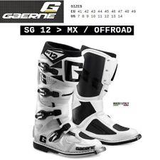 Stivali enduro cross moto GAERNE SG 12 MX OFFROAD white bianco 2174004