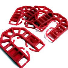 RED 4mm PLASTIC HORSESHOE PACKING SHIM - 55mm x 43mm x 4mm - PACKER / WEDGE