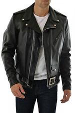 DE Herren Lederjacke Biker Men's Leather Jacket Coat Homme Veste En cuir R103c