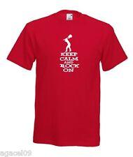Keep Calm and Rock On... divertente slogan Uomini T-Shirt Taglia da S a XXXL REGALO