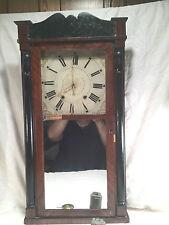 Large Ephraim Downs Columns Splat Shelf Clock 1830s, Running No Strike Works