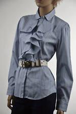 Lauren Jean Company Blue & White Stripe Cotton Long Sleeve Blouse - NWT