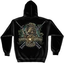 Erazor Bits Hooded Sweatshirt Sweater Hoodie USMC Marine Corp Devil Dog First In