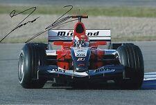 "Forumla 1 Test Driver Thomas Biagi Mano Firmado Foto 12x8 ""F1 Raro 3"