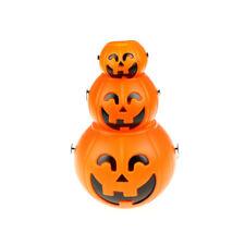Halloween Party Props Plastic Pumpkin Bucket Trick Cosplay Festivals Decor tec