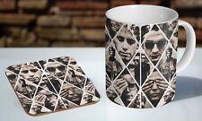 Depeche Mode Collage Tea - Coffee Ceramic Mug Coaster Gift Set