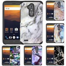 Marble Design Hybrid Case Cover for ZTE Max XL / ZTE Max Blue / ZTE Blade Max 3