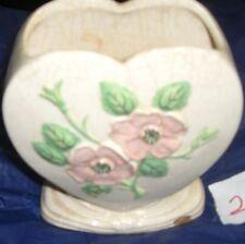 Vintage Hull  ceramic Heart vase  Rosella Art pottery  1949