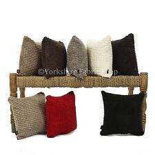 New British Handmade Plain Soft Textured Brick Effect Cord Fabric Filled Cushion