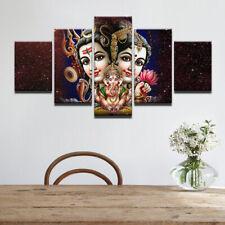 Shiva Parvati Ganesh 5 pcs Painting Canvas Wall Art Sport Poster Home Decorative