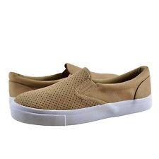 Women's Shoes Soda Tracer-MG Faux Vegan Leather Slip On Sneaker Camel *New*