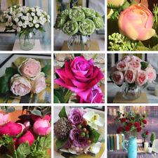 3pcs Synthetic Rose Silk Bouquet Artificial Flowers Home Decor Wedding Valentine