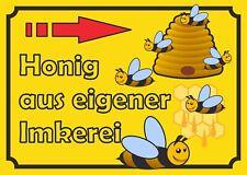 Verkaufsschild Honig rechts, zu verkaufen, Imker, Bienen, eigene Herstellung