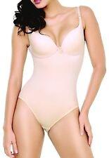 Bodysuit Lined in Firm Powernet. Shapewear. Nude/Black/White (10716)