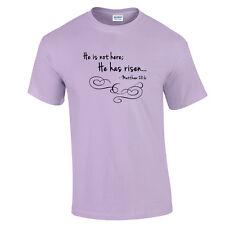 Christian T-Shirt He Has Risen T-Shirt Easter Shirt Religious Jesus God Tee