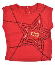 CooGi para niña manga corta Rouge Rojo y Negro Camiseta Talla 12meses 18m 24m