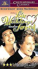 Four Weddings and a Funeral [VHS] Hugh Grant, Andie MacDowell, James Fleet, Sim