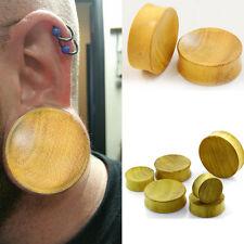"Pair Organic Handmade Solid Jack Fruit Wood Ear Plugs Double Flare Large 1""-2"""