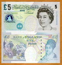 Great Britain 5 pounds, (2004), P-391 (391c) QEII, UNC > England