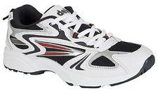 Mens Trainers DEK Venusl Lace-Up Jogging Shoes. White/Navy Sizes 3-13