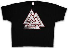 4XL & 5XL WOTAN VALKNUT LOGO T-SHIRT - Thor Symbol Tyr Celtic Shirt XXXXL XXXXXL