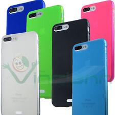 "Custodia cover FLEXY NEON per Apple iPhone 7 Plus 5.5"" case TPU gel flessibile"