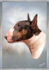 Bull Terrier White A6 Blank Card No 6 by Starprint