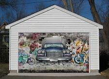 3D Auto E Mattone Garage Porta Stampe Parete Decorazione Murale AJ WALLPAPER IT