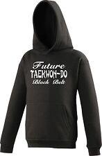 Personalised KIDS Hoody Taekwon Do TKD Future Black Belt Martial Arts
