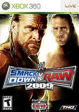 WWE SMACKDOWN VS. RAW 2009 --- XBOX 360 Complete CIB w/ Box, Manual