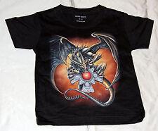 enfants T-shirt dragon marron gr. 2-4jahre ans jusqu'à gr. 10-12jahre spécial